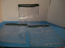 LOT 10 DISPOSABLE  PLASTIC CLEAR ZIPPERED STORGAE BAGS 8.5 x11""