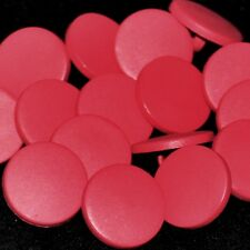 Mercerie lot de 5 Boutons plastique palets rouge rosé 12mm button