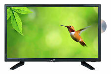 "SUPERSONIC 19"" LED HDTV with DVD USB / SD HDMI INPUTS AC / DC REMOTE CONTROL NEW"