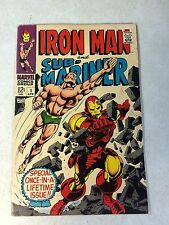 IRON MAN and SUB-MARINER #1 KEY ISSUE, 1968, COLAN, GREAT COVER!!!
