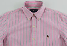 Men's RALPH LAUREN Pink Striped Oxford Cotton Shirt XLarge XL NWT NEW $89+ Nice!