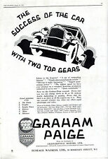 THE SUCCESS OF THE CAR WITH TWO TOP GEARS - GRAHAM PAIGE MOTORS - GRAPHIC (1929)