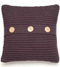 Charcoal Grey Chunky Knit Knitted Soft Cosy Scatter Square Cushion Cover