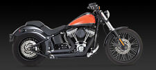 2012-2017 HARLEY SOFTAIL BLACK SHORT SHOTS  Exhaust (VANCE AND HINES 47225)