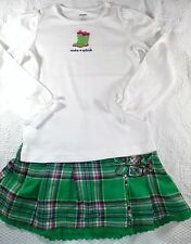 Gymboree Showers of Flowers Top 6 & Justice Green Plaid Skort 7 Outfit Lot G5