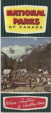 1950s National Parks of Canada Travel Brochure Vintage Canadian Fishing Camping
