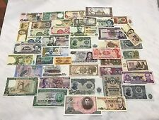 HUGE LOT OF (43) WORLD CURRENCY PAPER MONEY COLLECTION - ALL DIFFERENT! ALL UNC