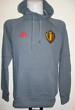 BELGIUM 2016/17 GREY HOODED SWEAT BY ADIDAS SIZE MEDIUM BRAND NEW WITH TAGS