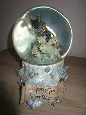Frazetta Snow Globe - Silver Warrior