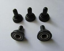 5x Black Mini Toggle Switch Waterproof Rubber Cap Water Proof Boot Cover Tip