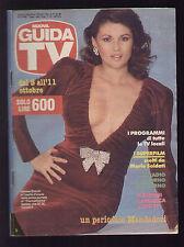 NUOVA GUIDA TV MONDADORI 40/1986 SERENA GRANDI PROGRAMMI TV LOCALI ROMA LAZIO