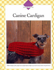 Canine Cardigan ~ Dog Sweater crochet pattern