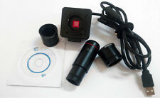 5MP Microscope Electronic Digital Eyepiece CMOS C-Mount Video Camera with Adapte
