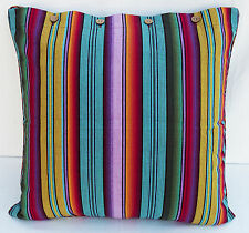 Euro Cushion Cover Madagascar Stripe Multi Colour Large Floor Seat Scatter Case