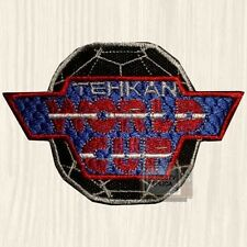Tehkan World Cup Logo Embroidered Patch Vintage Soccer Videogame Arcade Red Team