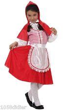 Costume Petit CHAPERON Rouge 5/6 ans Déguisement Enfant Fille Dessin Animé