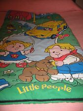Vintage Fisher Price LIttle People Child's Sleeping Bag Activity Mat
