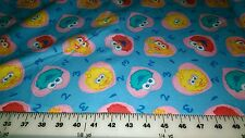 SESAME STREET BEGINNINGS BABY ELMO 123 BLUE FLANNEL FABRIC BY THE YARD