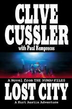 LOST CITY by CLIVE CUSSLER W/ PAUL KEMPRECOS , SIGNED BY BOTH.