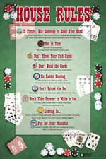 POKER - HOUSE RULES POSTER - 24x36 SHRINK WRAPPED - CARD GAME 5439
