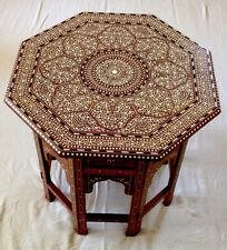 INDIAN inlaid OTTAGONALE tabella ROYAL DESIGN