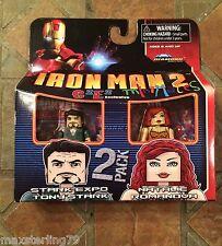 Marvel Minimates EXPO TONY STARK & NATALIE ROMANOV C2E2 Iron Man 2 Movie Avenger