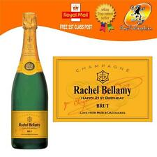 PERSONALISED CHAMPAGNE BOTTLE LABEL BIRTHDAY WEDDING CHRISTMAS ANY OCCASION