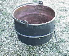 Antique 25 Gal. Apple Butter Copper Kettle w Stand