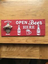 'Open Beer Here' Wall Plaque ....NEW!!