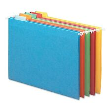 Smead - Hanging File Folders, 1/5 Tab, 11 Point Stock, Letter 25 Pack Asst Color