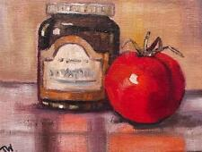 Autumn Tomato Chutney Daily Impressionist Original Oil Painting by Terry P Wylde