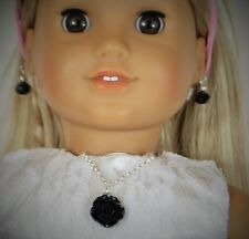 """Doll Jewelry Set For American Girl other 18 """" and 15 """"  Dolls Swarovski Earrings"""