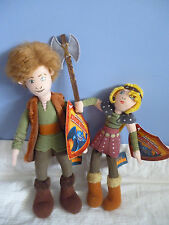 HOW TO TRAIN YOUR DRAGON - HICCUP & ASTRID Plush Soft Doll Toys BRAND NEW w TAG