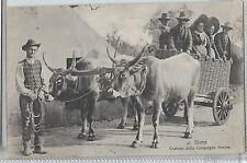 CARTOLINA 1908 SIENA COSTUMI DELLA CAMPAGNA SENESE 257/A