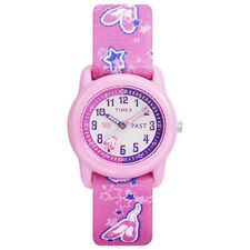 Timex T7B151, Kid's Pink Ballet Printed Fabric Strap Analog Watch, T7B1519J