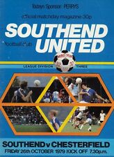 Southend United V Chesterfield 1979 , Football League Division 3 match Programme