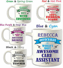 Birthday Gift Idea CARE ASSISTANT Carer Nurse Personalised Mug Brother Sister