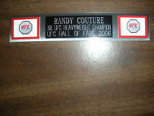 RANDY COUTURE (UFC) NAMEPLATE FOR SIGNED TRUNKS DISPLAY/PHOTO/PLAQUE