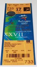 Ticket Olympic Sydney 2000 Fencing Women's epee Timea Nagy Hungary