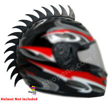 Motorcycle Helmet Mohawk Saw Blade 3M Stick on Ruber Biker Spike Strip Warhawk