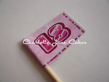 20 CUPCAKE FLAGS/TOPPERS - 18TH BIRTHDAY