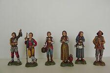 Landi Nativity Scene Figurines Presepio Pesebre Manger Scene Shepherd Set/6