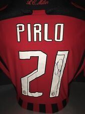 Signed Retro Andrea Pirlo Rare AC Milan Special Edition Home Shirt Champions