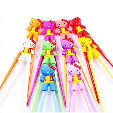 1pairs Hellokitty Kids training Helper Learning Fun Gift Toy Cheater Chopsticks+