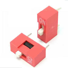 Plastic 2.54mm Pitch 1-Bit 1 Positions Ways Slide Type DIP Switch Small