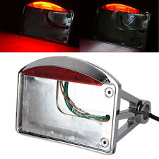 LED License Plate Bracket Side Mount Tail Brake Light f/Harley Davidson Chopper