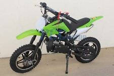 FREE SHIPPING KIDS 49CC 2 STROKE GAS MOTOR DIRT MINI POCKET BIKE GREEN I DB50X