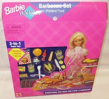 NRFB BARBIE PLAYSET ~ 1995  MATTEL GIFTSET FUN FIXIN'' BARBEQUE FOOD FOR DIORAMA