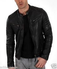 100% pure Leather Jacket Men's Ship Skin Leather Limited Edition