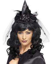 Mini Hexenhut schwarz auf Haarreif NEU - Karneval Fasching Hut Mütze Kopfbedecku